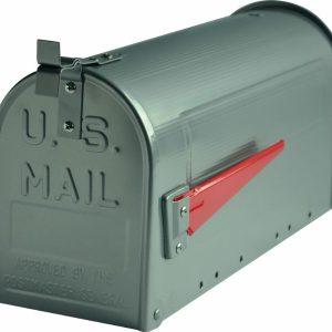 G2 The Postbox Specialists Amerikaanse brievenbus US Mailbox - aluminium zilver