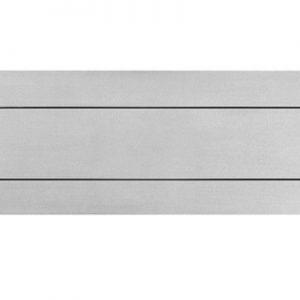 Hardbrass Briefplaat rechthoek geveerd 300x80mm - RVS