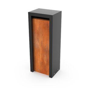 Geroba Geroba vrijstaande brievenbus Litru - Combo cortenstaal/zwart