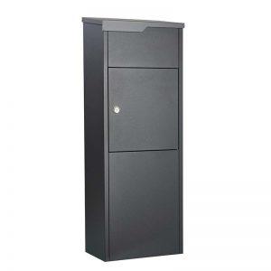 Pakketbrievenbus Allux 650 supreme zwart/antraciet klep