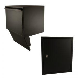 STOER! Inbouw pakketbrievenbus compleet - zwart